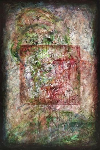 Transitios, fresco painting